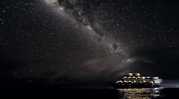 So bright it looks like you can touch the milky way of a night onboard Reef Encounter
